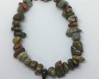 Ocean Jasper Bracelet, Ocean Jasper Stone Bracelet, Natural Healing Jasper bracelet, Natural Ocean Jasper Stone Jewelry