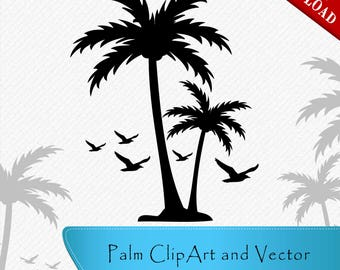Palm Silhouette, Palm Clipart, Palm Vector, Palm svg, Clipart, Cut, Vector digital download, svg, dxf, eps, png