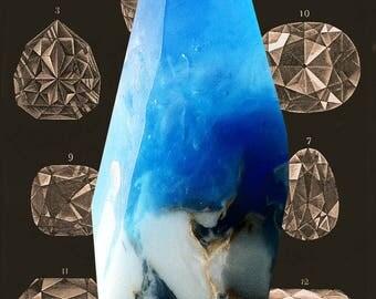 AQUAMARINE Crystal made of SOAP gift