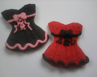 12 Corset Decorated Sugar Cookies Baked Goods Handmade Cookies Decorated Bachelorette Party Cookies Bridal Shower Cookies Bridal Cookie Gift