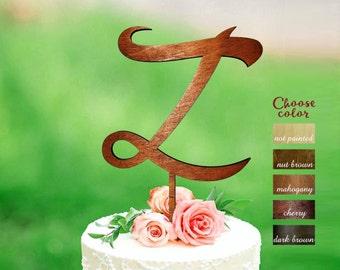 Letter z cake topper, cake topper letter, cake toppers for wedding, rustic monogram cake topper, initial cake topper, cake topper z, CT#178