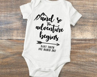 Adventure Pregnancy Announcement Bodysuit