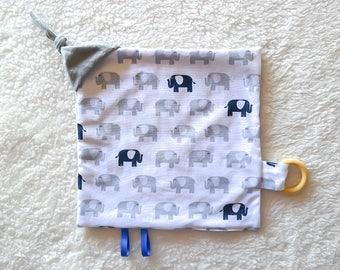 Baby Sensory Blanket in Elephants