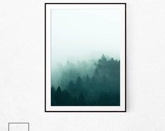 Forest Poster Art, Forest Wall Art, Forest Print Large, Forest Print, Forest Poster, Forest Photography, Scandinavian Print, Nordic Prints.