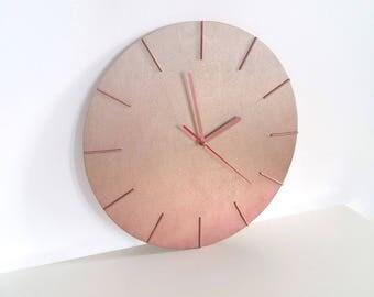 Unique Modern Wall Clock Copper White Gold Color Wooden Wall Clock Wall Decor