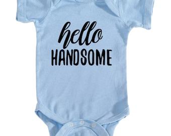 Hello Handsome Baby Boy Onesie!!
