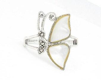 Butterfly MOP, Size 7, 925 Sterling Silver (1371)