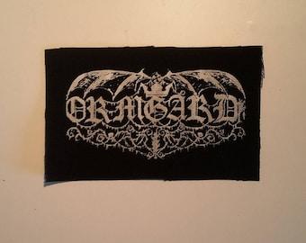 Ormgård Ormgard patch white logo black metal