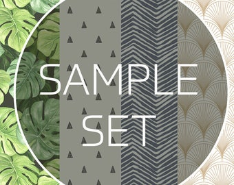 "Removable self adhesive wallpaper samples peel and stick wallpaper test swatch 6"" x 10"" inches up to 4 samples by CostaCover"