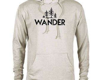 Wander Trees National Park  Adventure Unisex French Terry Hoodie