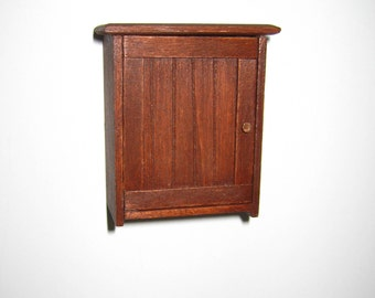 Dollhouse Miniature Handmade Kitchen Country Cupboard Cabinet 1:12 Scale Wood Furniture Artisan