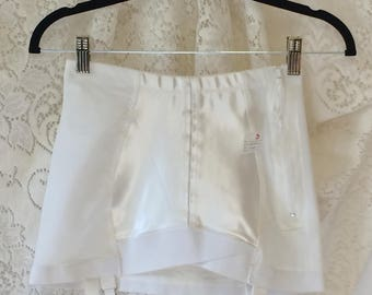 Vintage 1960's White Satin Girdle by Crownette -New Without Tags