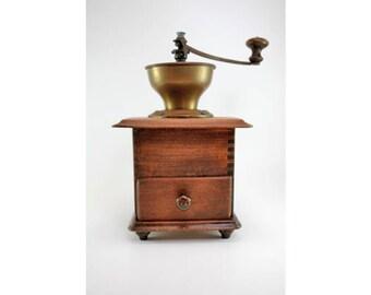 Vintage Coffee Grinder-Antique Coffee Grinder-Old European Vintage Coffee Mill