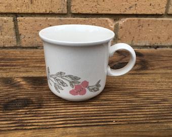 Retro mug - vintage pink flower pattern - floral design