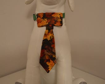 Dog Collar Neck Tie - Small - Leaves