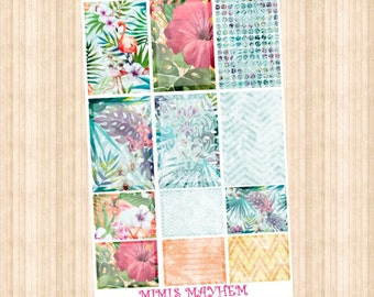 Tropical Full & Half Box // Happy Planner // Erin Condren // Personal