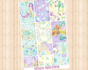 Mermaid Queen Full & Half Box // Happy Planner // Erin Condren // Personal