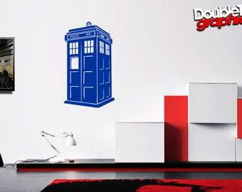 Doctor Who Inspired TARDIS Vinyl Wall Art