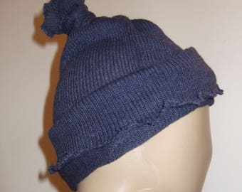 Multifunctional in beautiful blue Alpaca yarn Hat/collar