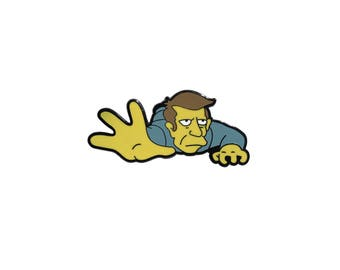 The Simpsons inspired 'Non Giving Up School Guy' hard enamel lapel pin badge