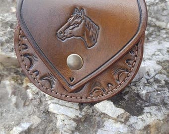 "Theme ""Horse"" leather wallet"