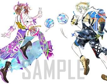 Yuna and Tidus Blitzball Holographic Mini Prints