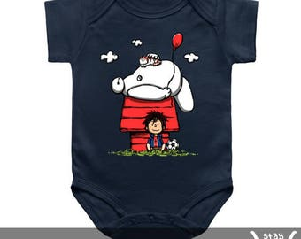 Baby Onesie / Toddler Tee / Kids Tee: Peanuts Companions / Snoopy / Charlie Brown / Comics / Big Hero 6 / Baymax / Movie / Cartoons