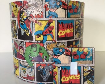 Marvel Lampshade Nursery Lampshade Marvel Comics Ceiling Lamp shade Spiderman Lampshade Gifts for Boys Room Superheroes Kids Lampshade
