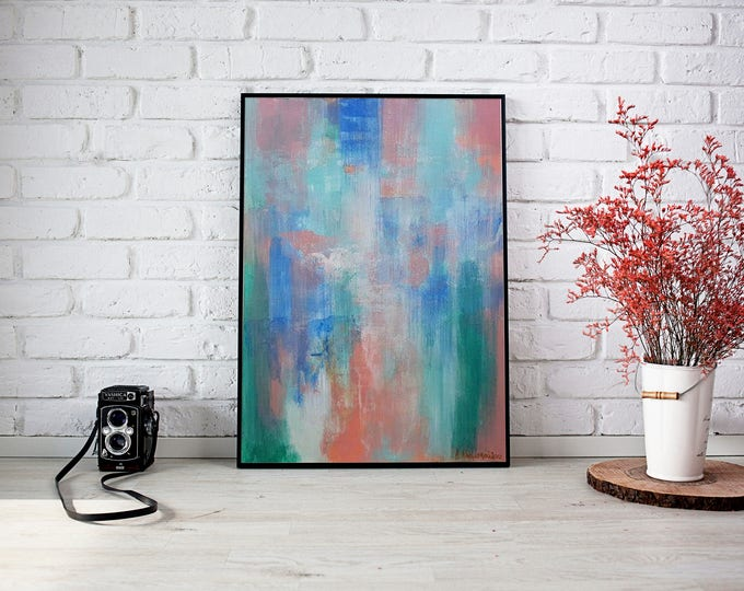 Gone with the wind 35x25cm Original Abstract Painting