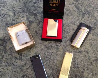 Lighters, Robson, BMJ, Win, Colibri, Vintage Butane Lighters.