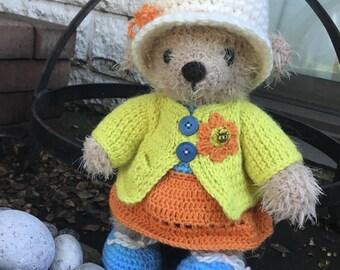 Teddy bear crochet cute