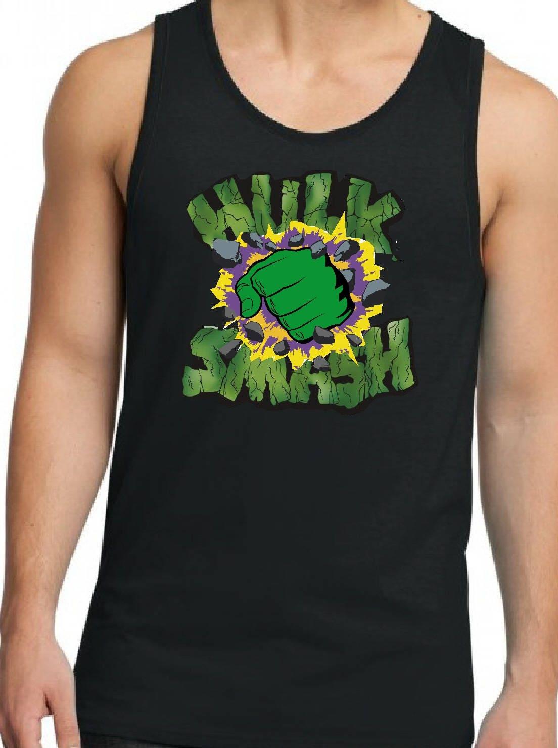 Incredible Hulk Men's Tank Top Guys Superhero Tank - photo#23