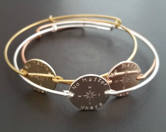 Best Friend Bracelet | 2 3 4 Sisters | Adjustable | Friendship Bracelet | Compass Bracelet | Personalized Disc Bracelet