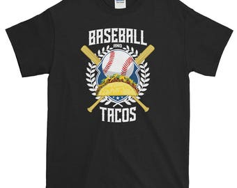 Baseball and Tacos Funny Sports Short-Sleeve T-Shirt