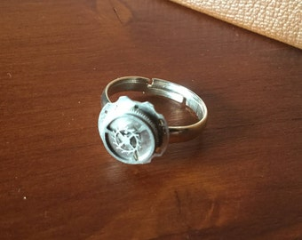 Silver Steampunk Ring
