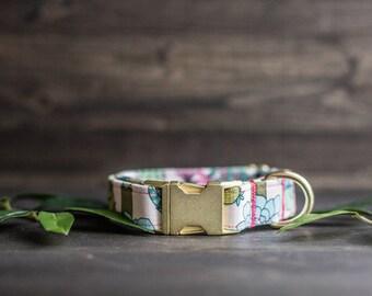 Trendy Dog Collar | Floral Dog Collar | Cactus Dog Collar | Girly Dog Collar | Succulent Dog Collar | Girl Dog Collar | Female Dog Collar