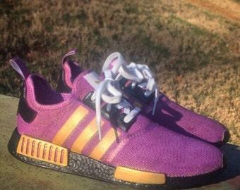 Adidas NMD Purple/Gold Custom