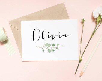 Customized name wedding card, floral card,  Bridesmaid proposal card, Maid of honor proposal card, proposal card, wedding card / SKU: LNBM28