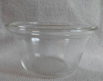 "Vintage Pyrex custard cups ""414"" on the bottom, clear Pyrex"