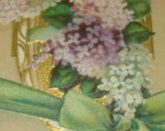 Beautiful Vintage Embossed Floral Postcard