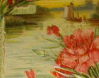Lovely Vintage Embossed Floral/Sceanic Postcard #4