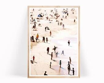 Aerial Beach Poster, Beach Art Print, Surf Art Printable, Digital Printables, Modern Beach Print, Beach Wall Art, Coastal Photo