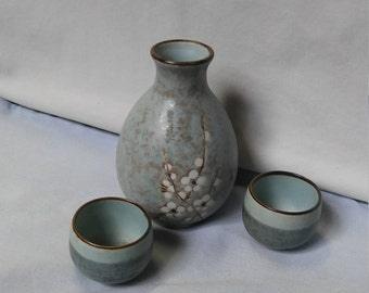 Light Blue Vintage Sake Set