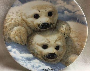 Royal Grafton The Beauty of Polar Wildlife Collector Plate - 'Baby Seals' (#130)