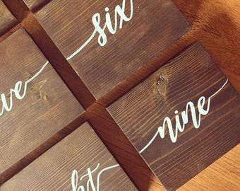 Rustic Wedding Table Numbers | Wedding Decor