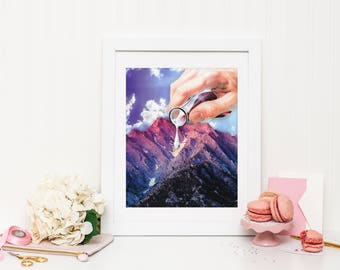 Snow Print, Snow Wall Art, Snow Poster, Mountain Print, Mountain Wall Art, Mountain Poster, Science Print, Science Poster, Science Wall Art
