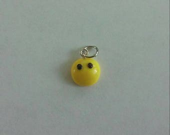 Embarrassed Emoji Polymer Clay Charm, Mouthless Emoji, #NoComment