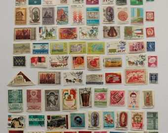 Set of 77 pcs Postal, Postage Stamp, Collecting, Philately # 14