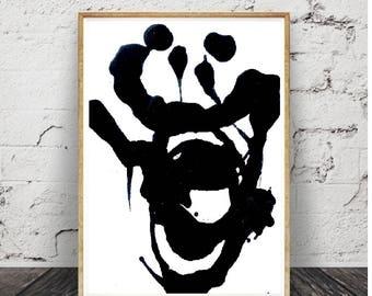 art et collection .abstrait noire télécharger Photo plante tropicale, imprimable affiche grand format, numérique,décor moderne contemporain