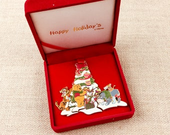 Disney Happy Holidays Pooh Bear & Friends Holiday Puzzle Boxed Set Pin